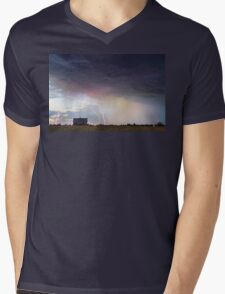 Positive Pink Lightning On the Prairie  Mens V-Neck T-Shirt