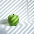 Green Apple with stripes by Akhilesh