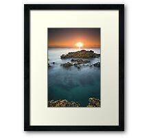 No Diving Framed Print