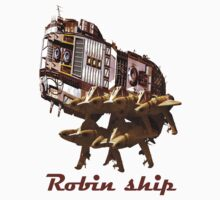 Robin ship by Antanas T-Shirts