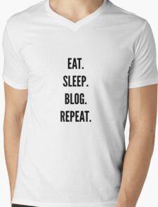 Eat, Sleep, Blog, Repeat Mens V-Neck T-Shirt