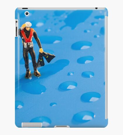The Diver Among Water Drops iPad Case/Skin