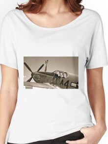 Tuskegee P-51 Mustange Vintage Fighter Plane Women's Relaxed Fit T-Shirt