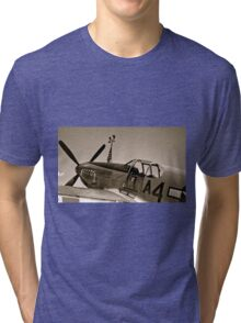 Tuskegee P-51 Mustange Vintage Fighter Plane Tri-blend T-Shirt
