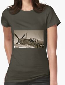 Tuskegee P-51 Mustange Vintage Fighter Plane Womens Fitted T-Shirt