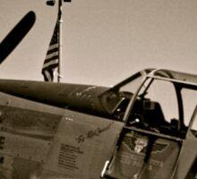 Tuskegee P-51 Mustange Vintage Fighter Plane Sticker