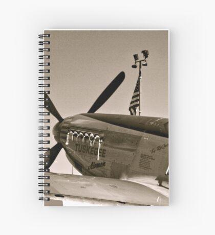 Tuskegee P-51 Mustange Vintage Fighter Plane Spiral Notebook