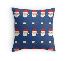 Happy Santa with Milk and Cookies Throw Pillow