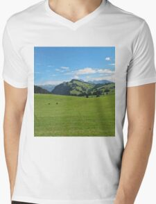 Green mountains (Italy) Mens V-Neck T-Shirt