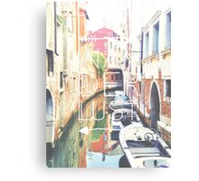 With Love, from Venice Canvas Print