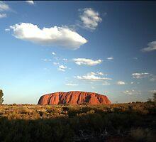 Uluru at sunset. by John Dalkin
