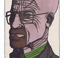 Walter White, Breaking Bad by Spencer Holdsworth Art