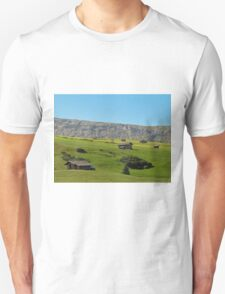 Houses in green valley in the mountains (Italy) T-Shirt