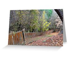Hill End Fences Greeting Card