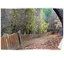 Hill End Fences Poster