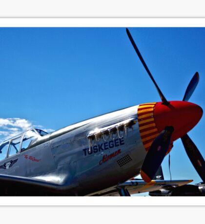 Tuskegee Airmen P51 Mustang Fighter Plane Sticker