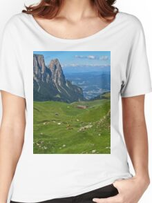 View from the top of a mountain Women's Relaxed Fit T-Shirt
