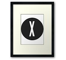 X-FiLES Framed Print