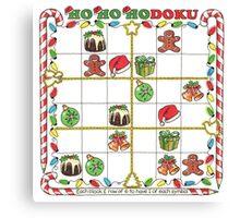 A Merry Christmas Sudoku Canvas Print