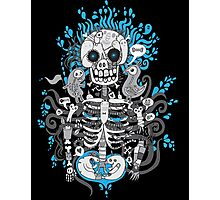 Skeleton Man Photographic Print