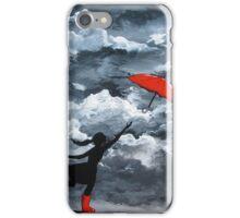Red Umbrella iPhone Case/Skin