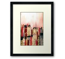 October Sunset Edinburgh Old Town Framed Print