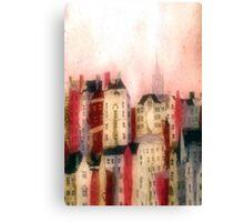 October Sunset Edinburgh Old Town Canvas Print
