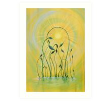 Feeling the sun's dews Art Print