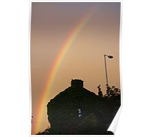 Holmfirth rainbow over the house of ivy Poster