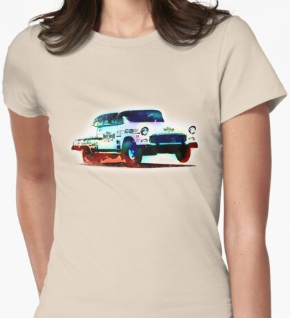 1955 Chevy - Gasser - Vintage Style - Hot Rod Womens Fitted T-Shirt