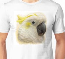 Sulfur Crested Cockatoo realistic painting Unisex T-Shirt