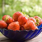 A bowl of strawberries  by Asanova