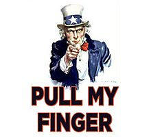 Uncle Sam - Pull My Finger Photographic Print