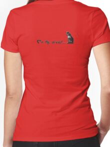 on the prowl.... Women's Fitted V-Neck T-Shirt