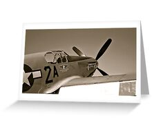 Tuskegee Airmen P51 Mustang Fighter Plane Greeting Card