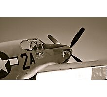 Tuskegee Airmen P51 Mustang Fighter Plane Photographic Print