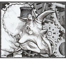 Lord Triceratops - Grey or Gray Photographic Print