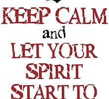 Keep Calm And Let Your Spirit Start To Soar by AliceCorsairs