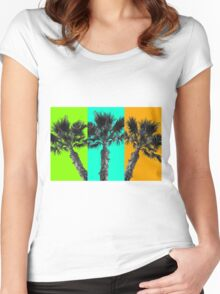 Tropical Palms  Women's Fitted Scoop T-Shirt