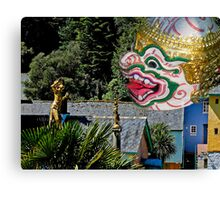 Burmese dancers at Portmeirion, Wales, UK Canvas Print