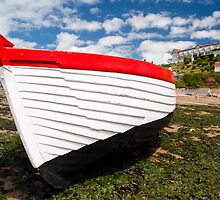Fishing Boat Berth at Low Tide Devon Beach by ShanneOng