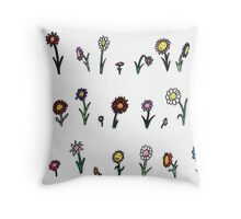 The happy flower garden just for you! Throw Pillow