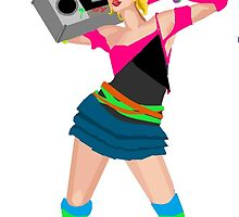 80s Girl Boombox by Niblette