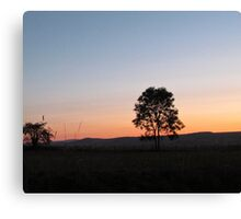 sunrise in the countryside Canvas Print