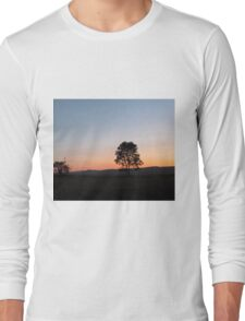 sunrise in the countryside Long Sleeve T-Shirt