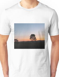 sunrise in the countryside Unisex T-Shirt