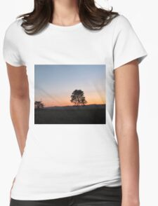 sunrise in the countryside Womens Fitted T-Shirt