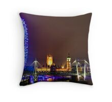 London Eye and The Westminister by the SouthBank Throw Pillow