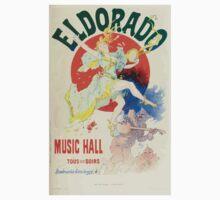Les Affiches Illustrees 1886 1895 Ouvrage Orne de 64 Ernest Maindron Jules Cheret 1896 0227 Eldorado Baby Tee