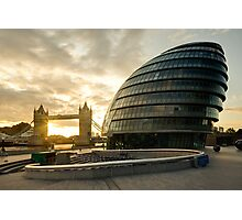 London Mayor House and the Tower Bridge Photographic Print